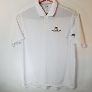 Adidas Men's White Polo Logo Golf Shirt Size 2 XL